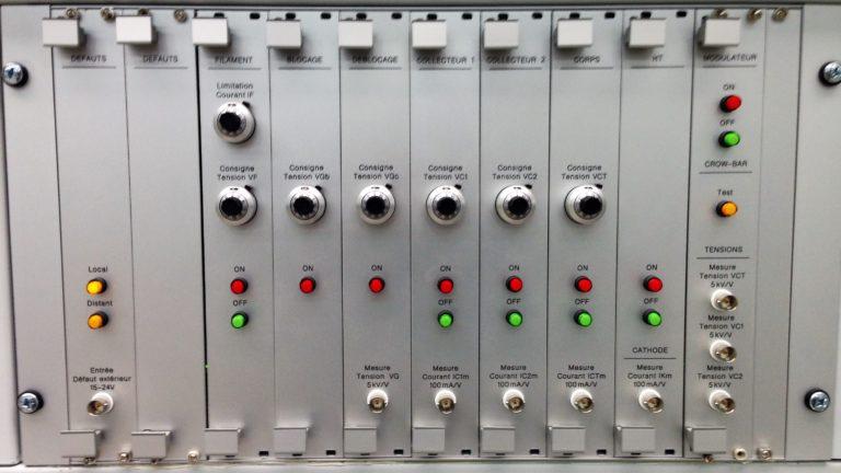 Banc de test 60kV – Panier électronique