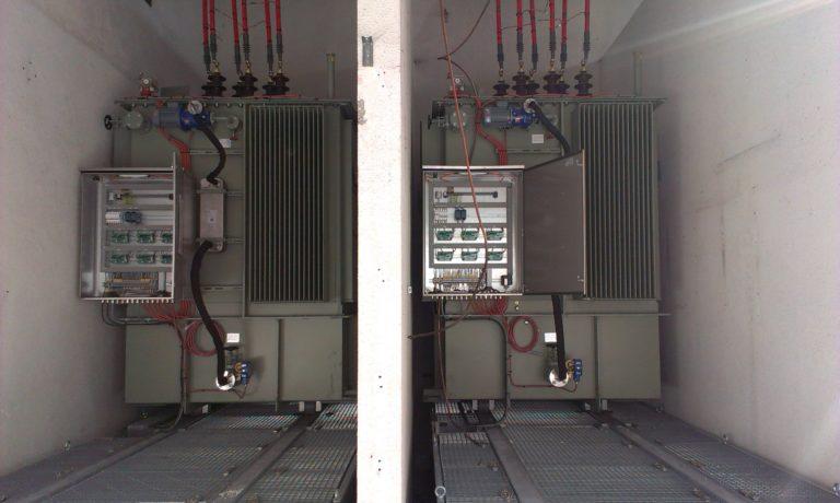 Redresseur 33kA – Transformateurs huile avec bac de rétention